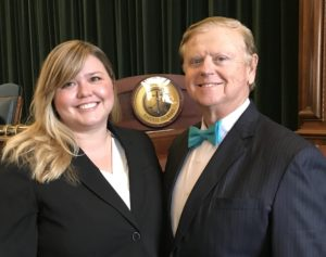 Attorneys Ingrid A. Halstrom and Frederic N. Halstrom at the RI Bar swearing in ceremony November 21, 2016